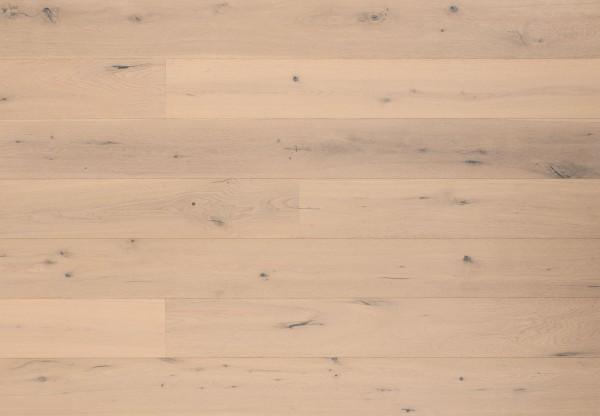 Landhausdiele Eiche Country astig gebürstet weiß matt lackiert - 60331