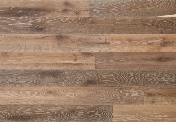 Massivholzdiele Wildeiche gebürstet angeräuchert gekalkt geölt - 90019