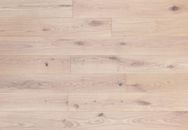 Massivholzdiele Wildeiche gebürstet extra weiß geölt - 90012