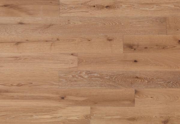 Massivholzdiele Wildeiche gebürstet gekalkt geölt - 90018