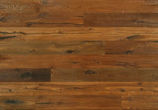 Landhausdiele Eiche Altholz Portland tiefgebürstet dunkel geräuchert geölt - 60701