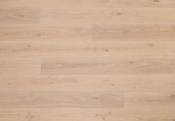 Landhausdiele Asteiche gebürstet gekalkt perlweiss geölt - 33027