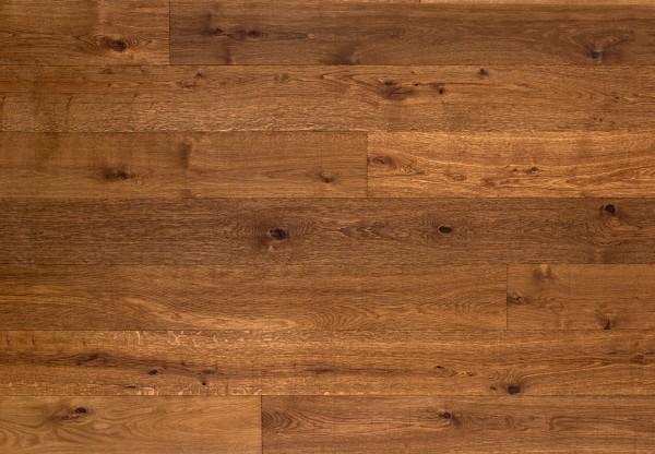 Gutsboden Wildeiche handbearbeitet tief gekittet tiefgebürstet gesägt angeräuchert geölt - 99147