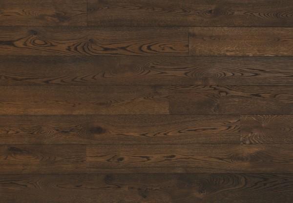 Massivholzdiele Wildeiche tiefgebürstet angeräuchert schwarzbraun geölt - 90022
