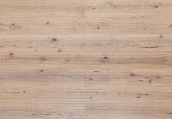 Landhausdiele Wildeiche handgehobelt leicht grau geölt - 33690