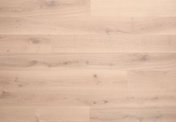 Landhausdiele Eiche Rustik gebürstet bianco matt lackiert - 70301