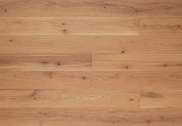 Landhausdiele Eiche Astig gebürstet leicht weiß pigmentiert geölt - 50521