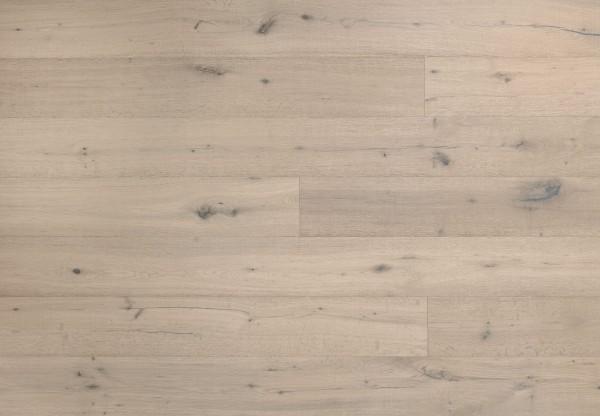 Landhausdiele Eiche Dakota handbearbeitet gesägt gebürstet leicht grau geölt - 60453