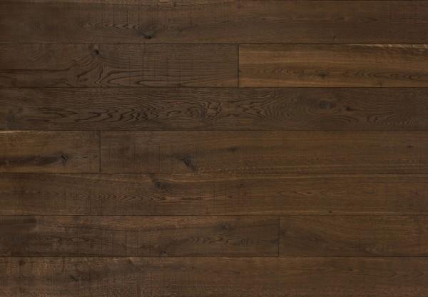 Gutsboden Wildeiche handbearbeitet tiefgekittet tiefgebürstet gesägt angeräuchert schwarzbraun geölt - 99149
