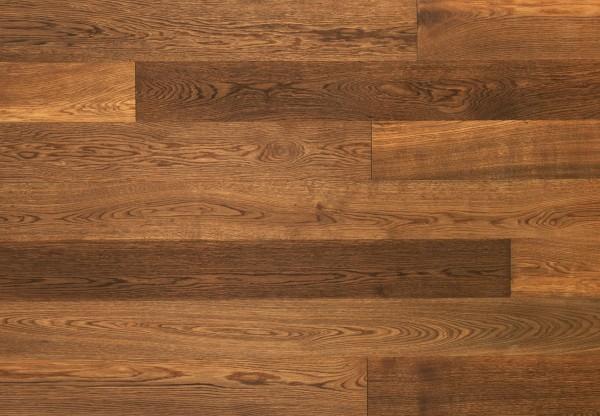 Massivholzdiele Natureiche gebürstet angeräuchert geölt - 90035