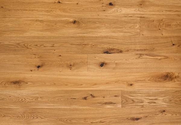 Massivholzdiele Wildeiche wellengehobelt geölt - 90101