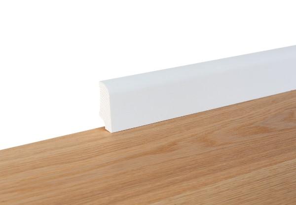 Sockelleiste furniert Typ5 deckend weiß matt lackiert - 11132