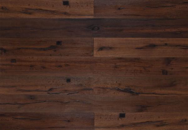 Landhausdiele Da Capo Eiche Sparuto Altholzdesign mit Holzdübel geölt - 44106