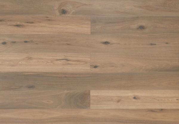 Landhausdiele Eiche Alabama handgehobelt gebürstet geräuchert weiß geölt - 60312
