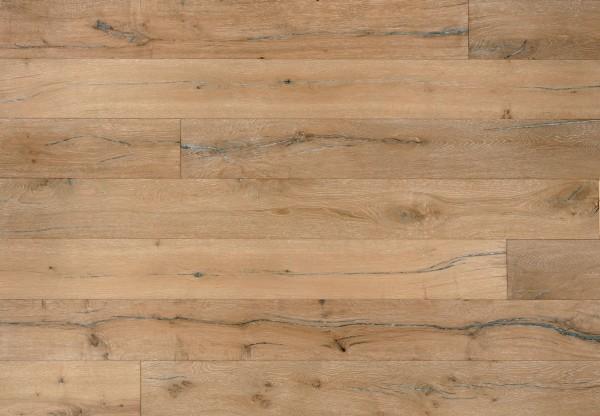 Landhausdiele Eiche Altholz Sacramento tiefgebürstet gekalkt weiß geölt - 60702