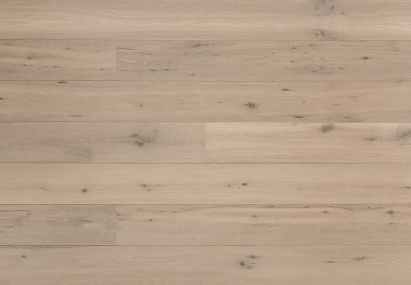 Landhausdiele Eiche Country astig gebürstet geräuchert weiß matt lackiert - 60333