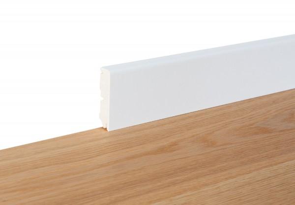 Sockelleiste Cube weiß foliert - 11107