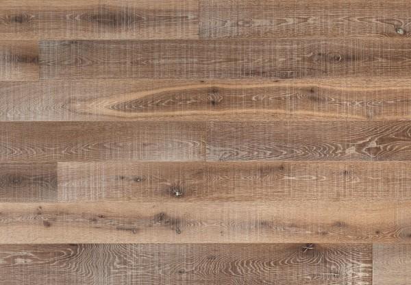 Massivholzdiele Wildeiche gesägt angeräuchert gekalkt geölt - 90074