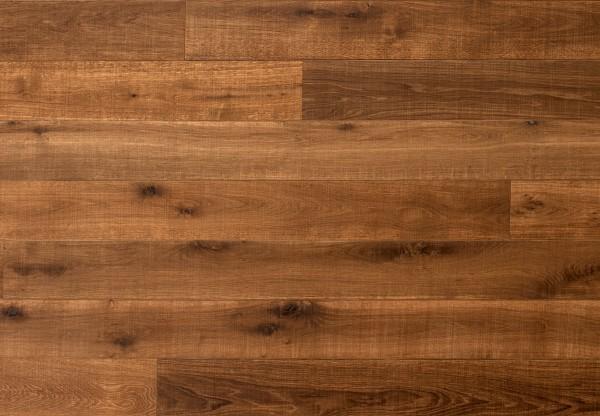 Massivholzdiele Wildeiche handgehobelt tief gekittet gesägt angeräuchert geölt - 90141